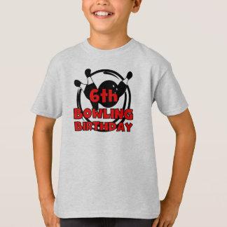 6th Bowling Birthday T-Shirt