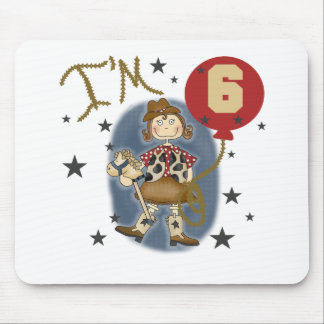 6th Cowgirl Birthday Mouse Pad