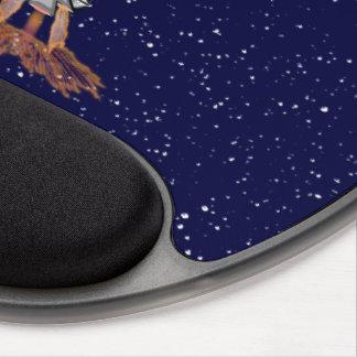 6th Dimension Rocket Ship Ergonomic Gel Mousepad Gel Mouse Mat