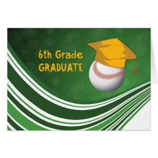 6th Grade Graduation, Softball Ball and Hat Card