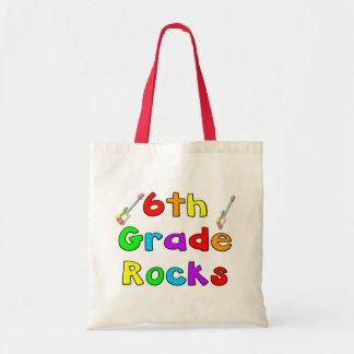 6th Grade Rocks Budget Tote Bag