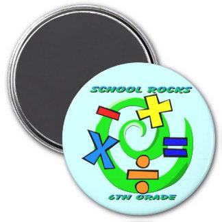 6th Grade Rocks - Math Symbols Refrigerator Magnets