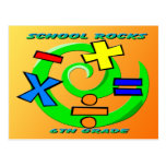 6th Grade Rocks - Math Symbols Postcard