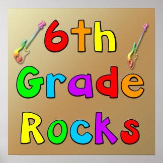 6th Grade Rocks Poster