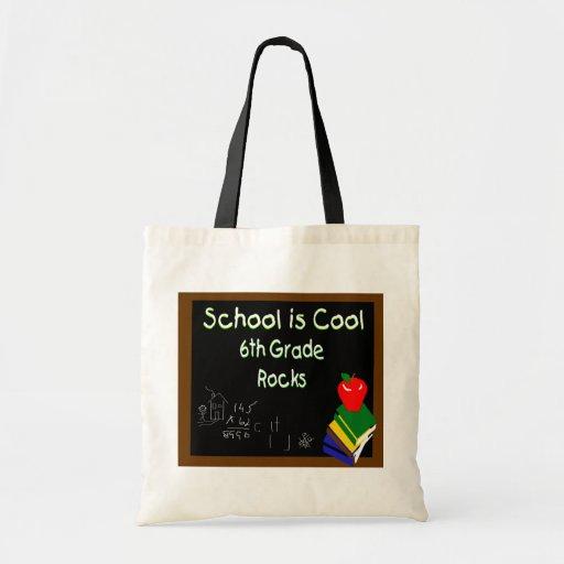 6th Grade School is Cool Chalk Board Bag