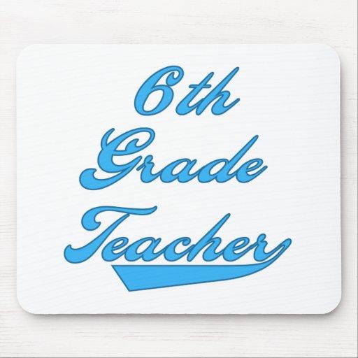 6th Grade Teacher Blue Mouse Mat