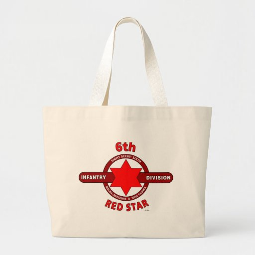 """6TH INFANTRY DIVISION """"RED STAR"""" WW I & WW II CANVAS BAGS"""