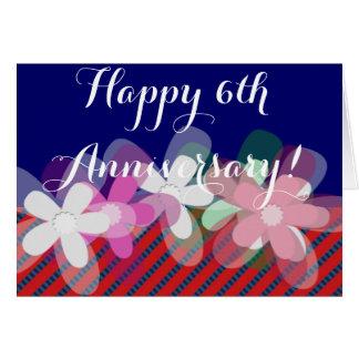 6th wedding anniversary flowers card
