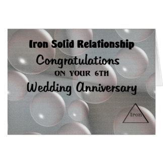 6th Wedding Anniversary Greeting Card