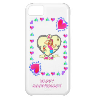 6th wedding anniversary, iron iPhone 5C case