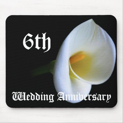 6th Wedding Anniversary: 6th Wedding Anniversary - Lily Mouse Pad
