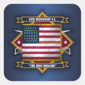 6th Wisconsin Volunteer Infantry Square Sticker