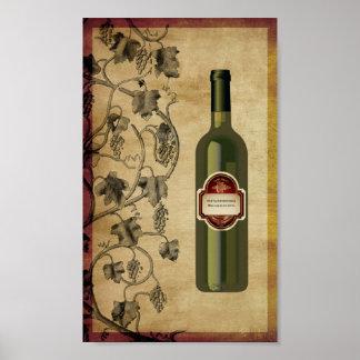 6X10 Wine Bottle Wall Art