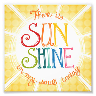 "6x6 - ""Sunshine in My Soul"" - Photo Print"