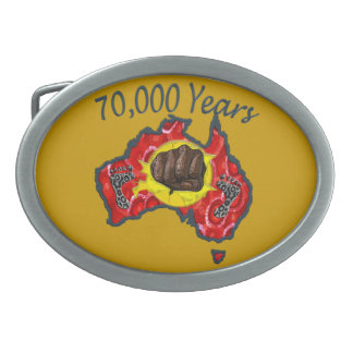 70000 years Belt Buckle