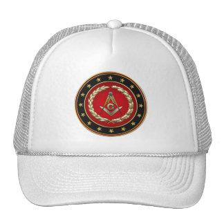 [700] Masonic Square and Compasses [3rd Degree] Cap