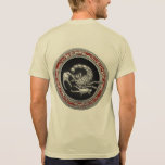 [700] Sacred Silver Scorpion on Black T Shirts