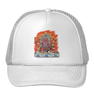 [700] Tibetan Thangka  - Wrathful Deity Hayagriva Cap