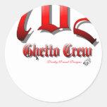 702GhettoCrew Classic Round Sticker