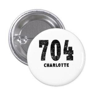 704 Charlotte Distressed 3 Cm Round Badge