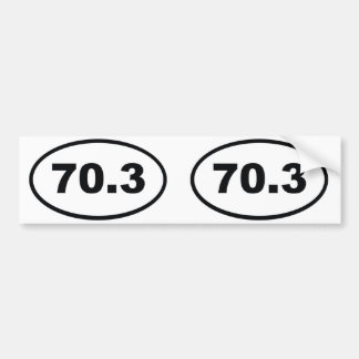 70.3 miles half Triathlon Bumper Sticker