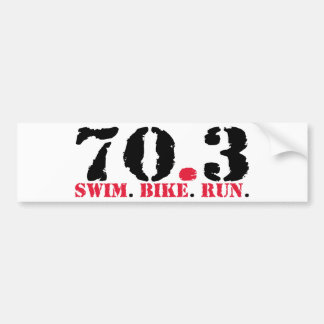 70.3 Swim Bike Run Bumper Sticker