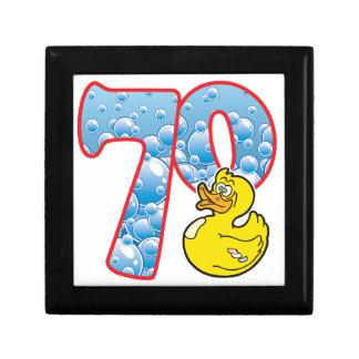 70 Age Duck Small Square Gift Box