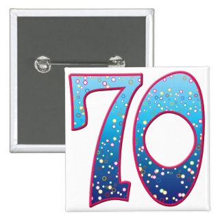 70 Age Rave 15 Cm Square Badge