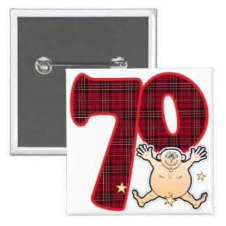 70 Age Star Man 15 Cm Square Badge