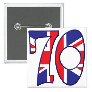 70 Age UK 15 Cm Square Badge