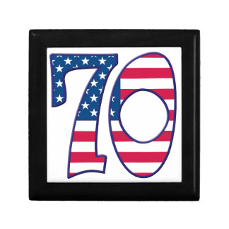70 Age USA Small Square Gift Box