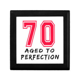 70 Aged To Perfection Birthday Design Gift Boxes