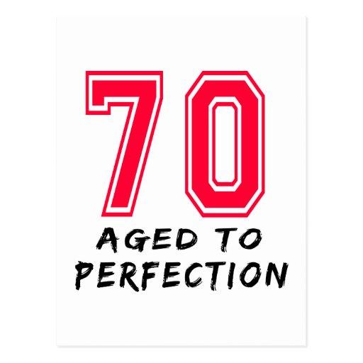 70 Aged To Perfection Birthday Design Postcard