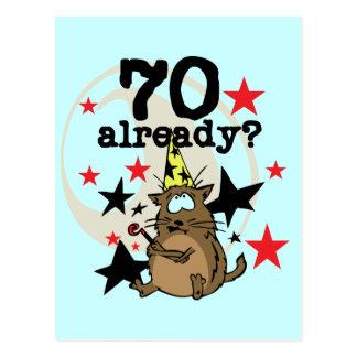 70 Already Birthday Postcard