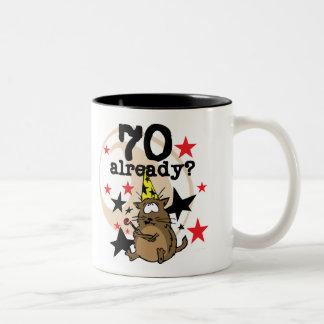 70 Already Birthday Two-Tone Mug