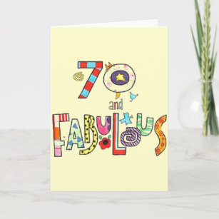 70 Years Old Fabulous Birthday Cards
