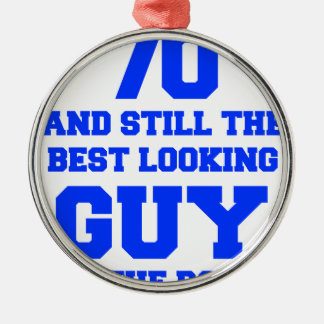 70-and-still-best-looking-guy-FRESH-BLUE.png Silver-Colored Round Decoration