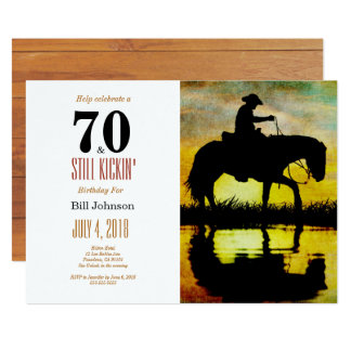 70 and Still Kickin' Birthday Party Card