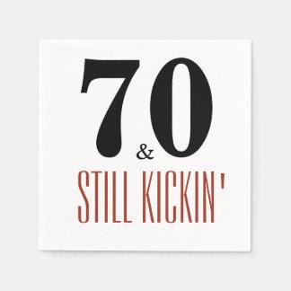 70 and Still Kickin' Birthday Party Napkin Paper Napkin