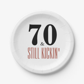 70 and Still Kickin' Birthday Party Paper Plate