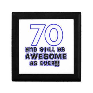 70 birthday design small square gift box