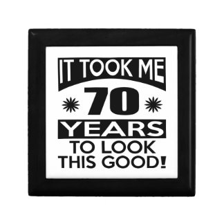 70 birthday designs small square gift box