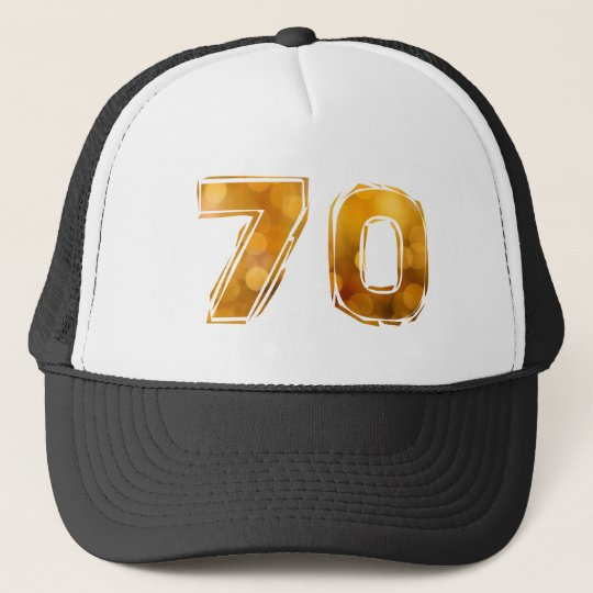 70 birthday trucker hat