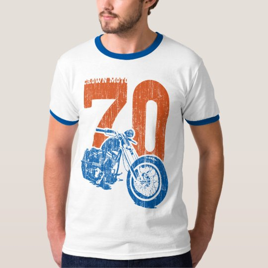 '70 Bobber (vintage red/blue) T-Shirt