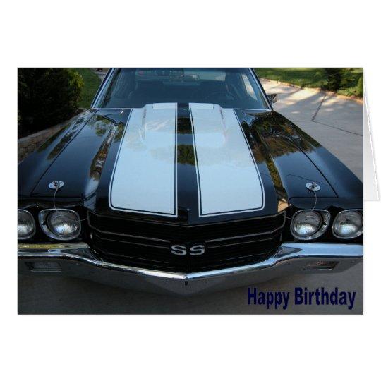 70 Chevelle Happy Birthday Card