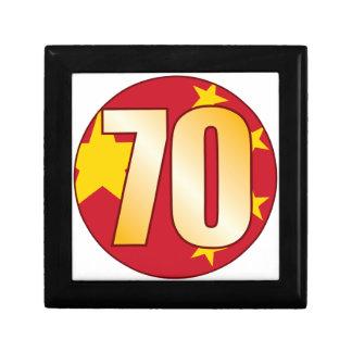 70 CHINA Gold Small Square Gift Box