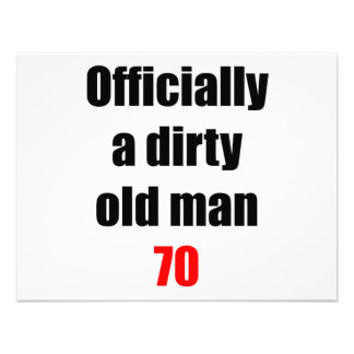 70 Dirty Old Man Personalized Invitation