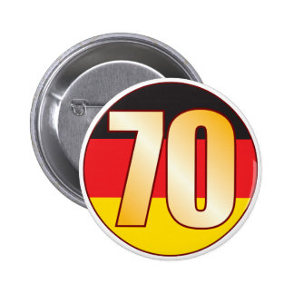 70 GERMANY Gold 6 Cm Round Badge
