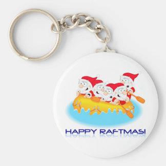 70_happy_raftmas basic round button key ring