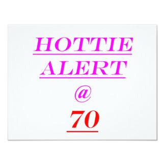 70 Hottie Alert Custom Invites